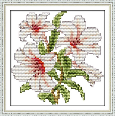 YEESAM ART Cross Stitch Kits Stamped for Adults Beginner Kids Sunflowers Sunflowers 11CT 22/×22cm DIY Embroidery Needlework Kit with Easy Funny Preprinted Patterns Needlepoint Christmas