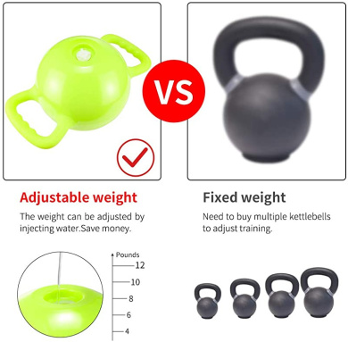 Yoga Kettle Bell Kettlebell Water Filled Strength Traning Home Gym Fitness Crossfit FORNORM Weight Kettle Bell