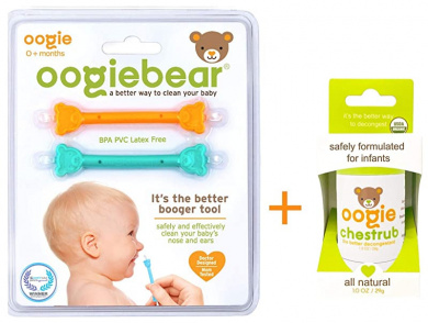 Cute Bear Booger Picker 2 Pcs Infant Booger Remover Tool Convenient and Comfortable Baby Nose Cleaner Safe Material Double Ends for Dried and Sticky Booger Remover