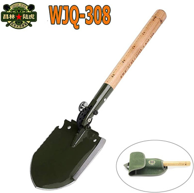 Tangger 2 PCS Folding Shovel Camping with Compass,Multifunction Mini Folding Shovel Survival with Carrying Pouch for Camping//Gardening//Fishing,Random Color